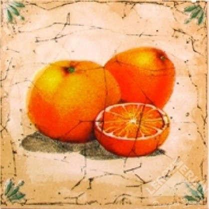 Декор Гурман 16.5х16.5 см апельсин цвет бежевый