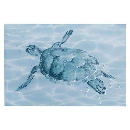 Декор Лагуна Черепаха 24.9х36.4 см цвет голубой