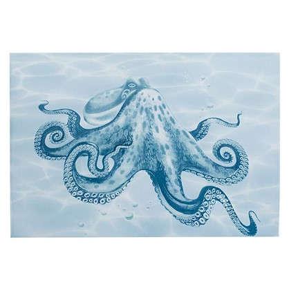 Декор Лагуна Осьминог 24.9х36.4 см цвет голубой