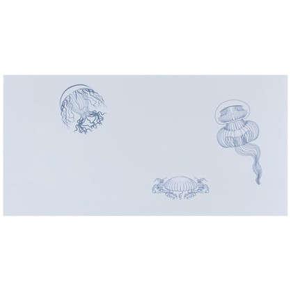 Декор Марис Медузы 30х60 см цвет белый