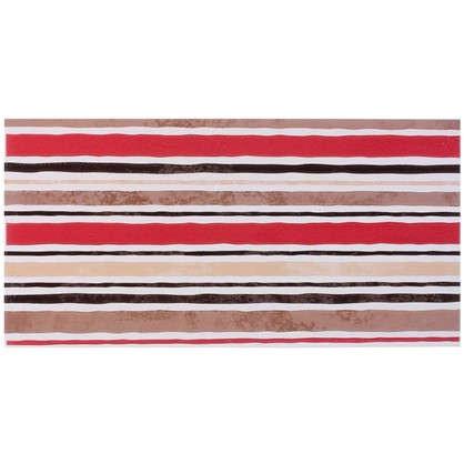 Декор настенный Дюна 1 Полосы коричневая 60x30 см цвет красный
