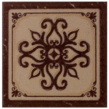 Декор Севилья 6х6 см цвет коричневый