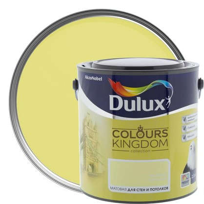 Декоративная краска для стен и потолков Dulux Colours Kingdom цвет зеленая орхидея 2.5 л