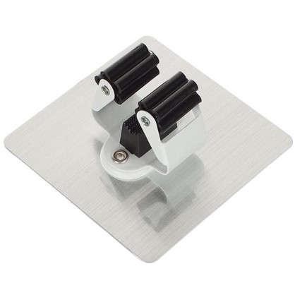 Держатель для инвентаря на силиконовом креплении 100x100 мм до 2.5 кг цвет серебро
