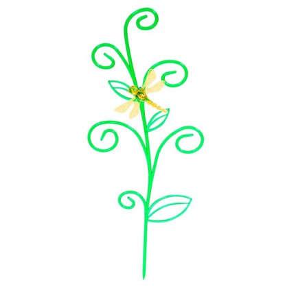 Держатель для комнатных растений Стрекоза на ветке цвет зелёный