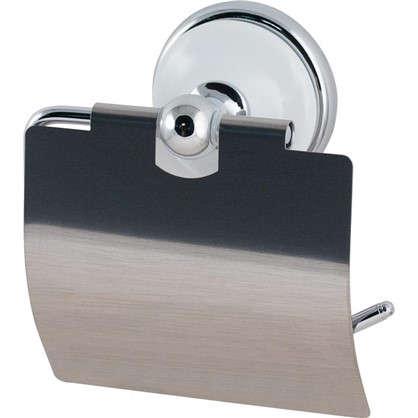 Держатель для туалетной бумаги Aster с крышкой цвет хром