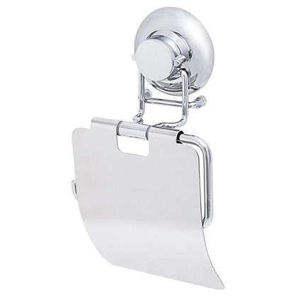 Держатель для туалетной бумаги Fest c крышкой на присоске цвет хром