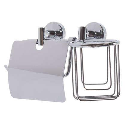 Держатель для туалетной бумаги и освежителя воздуха Mr Penguin Sonata цвет хром
