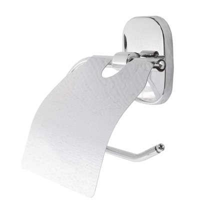 Держатель для туалетной бумаги Квадрат с крышкой цвет хром
