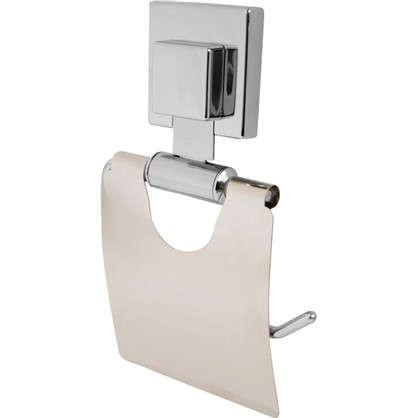 Держатель для туалетной бумаги Sensea Smart Lock на присоске с крышкой цвет хром