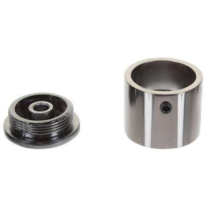 Держатель торцевой 3 см матовая сталь