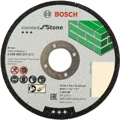 Диск отрезной по камню Bosch 115x3 мм