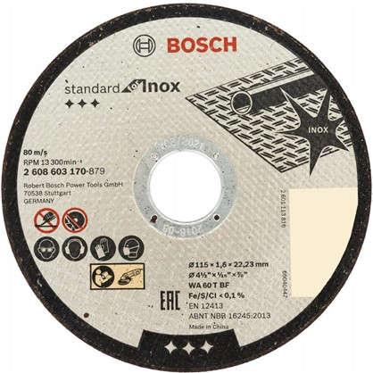 Диск отрезной по нержавейке Bosch 115x1.6 мм