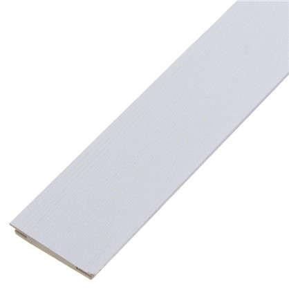 Добор дверной коробки МДФ Модерн 2070х100 мм цвет белый ясень