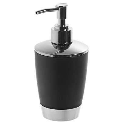 Дозатор для жидкого мыла настольный Альма цвет черный