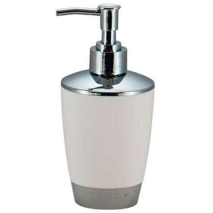 Дозатор для жидкого мыла настольный Альма пластик цвет белый