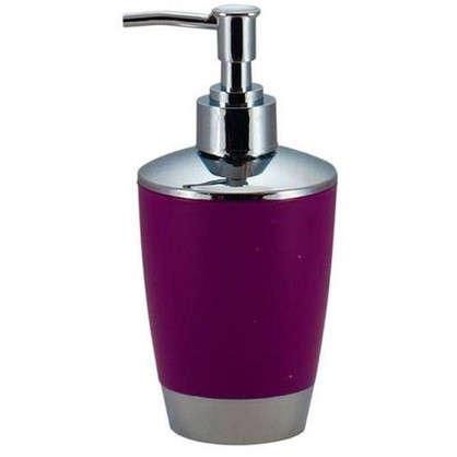 Дозатор для жидкого мыла настольный Альма пластик цвет фиолетовый