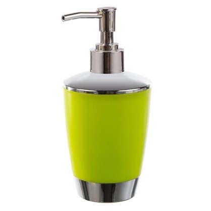 Дозатор для жидкого мыла настольный Альма пластик цвет зеленый