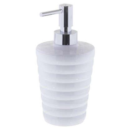 Дозатор для жидкого мыла настольный цвет белый