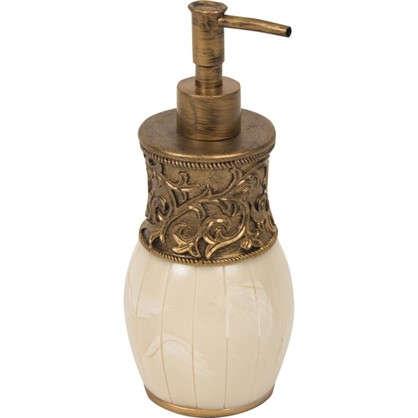 Дозатор для жидкого мыла настольный Флоренция полирезина цвет бежевый