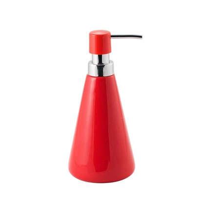 Дозатор для жидкого мыла Veta керамика цвет алый