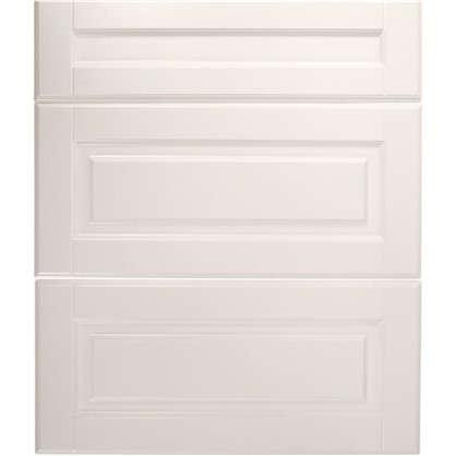 Дверь для кухонного шкафа Леда белая 3 ящика 60х70 см