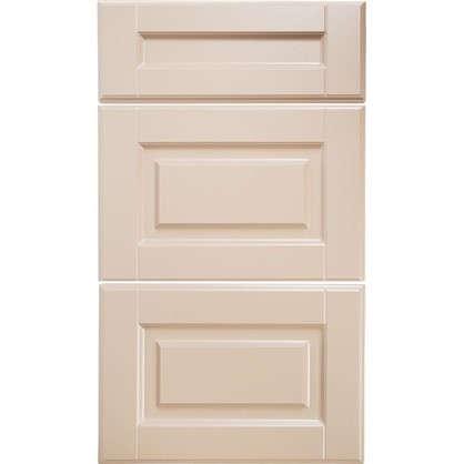 Дверь для кухонного шкафа Леда бежевая 60 см 3 ящика