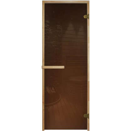 Дверь для сауны 69х189 см цвет бронза