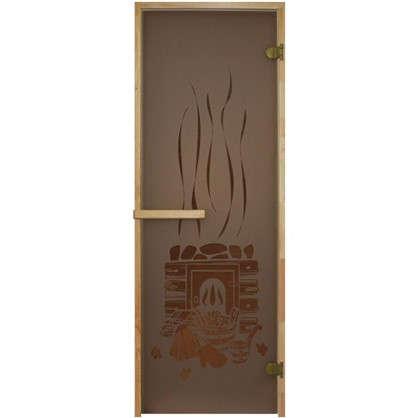Дверь для сауны 69х189 см цвет бронза с рисунком