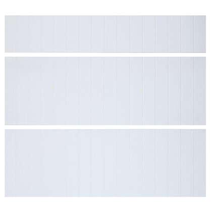 Дверь для шкафа Delinia Фенс 3 ящика 80 см МДФ цвет белый