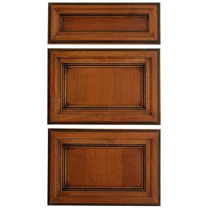 Дверь для шкафа Прованс 3 ящика 40 см массив дерева цвет коричневый