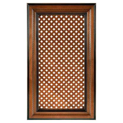 Дверь с решеткой для шкафа Прованс 40х70 см массив дерева цвет коричневый