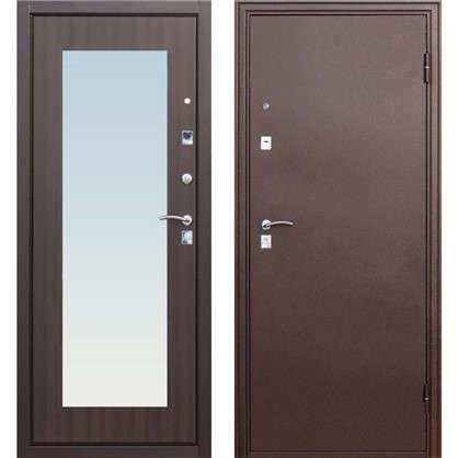 Дверь входная металлическая Царское зеркало Maxi 860 мм правая цвет венге
