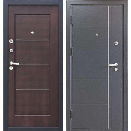 Дверь входная металлическая Ferrum 8 860 мм левая цвет венге