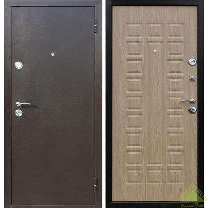 Дверь входная металлическая Йошкар 860 мм левая цвет ель карпатская