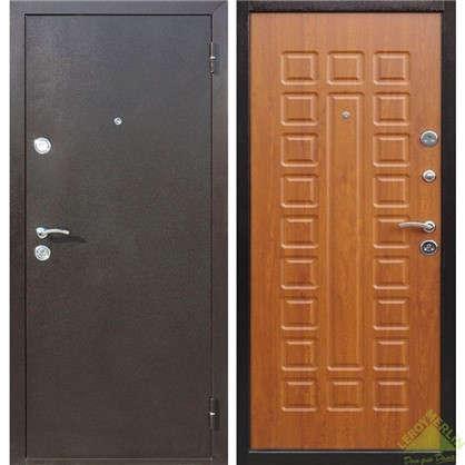 Дверь входная металлическая Йошкар 860 мм левая цвет золотистый дуб