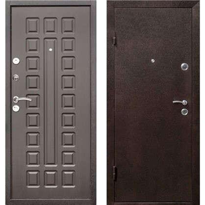 Дверь входная металлическая Йошкар 960 мм левая цвет венге