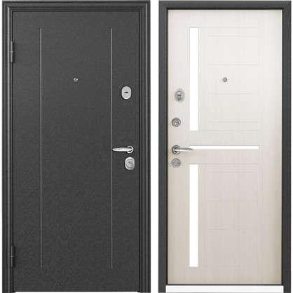 Дверь входная металлическая Контрол 2 860 мм левая цвет белый перламутр