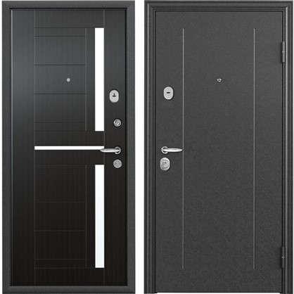 Дверь входная металлическая Контрол 2 860 мм правая цвет тёмный венге