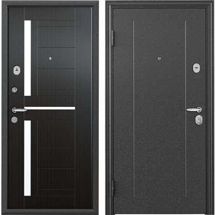 Дверь входная металлическая Контрол 2 950 мм левая цвет тёмный венге