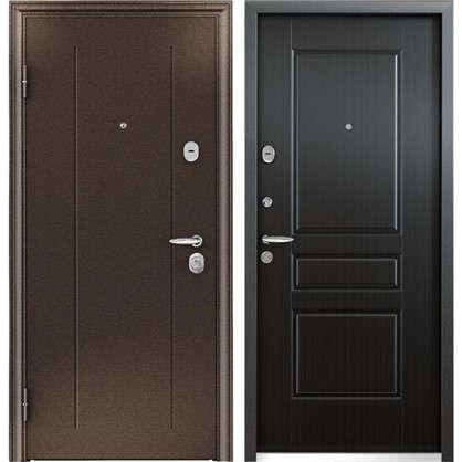Дверь входная металлическая Контроль Хит 950 мм левая цвет венге