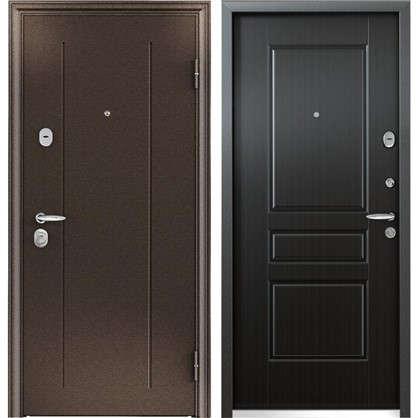 Дверь входная металлическая Контроль Хит 950 мм правая цвет венге