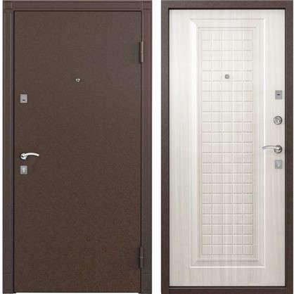 Дверь входная металлическая Спектра 1 860 мм правая цвет белый перламутр