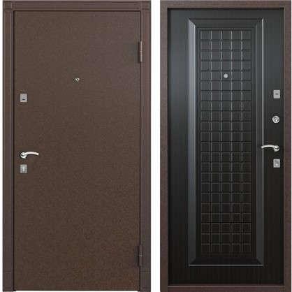 Дверь входная металлическая Спектра 1 860 мм правая цвет тёмный венге