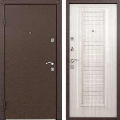 Дверь входная металлическая Спектра 1 950 мм левая цвет белый перламутр