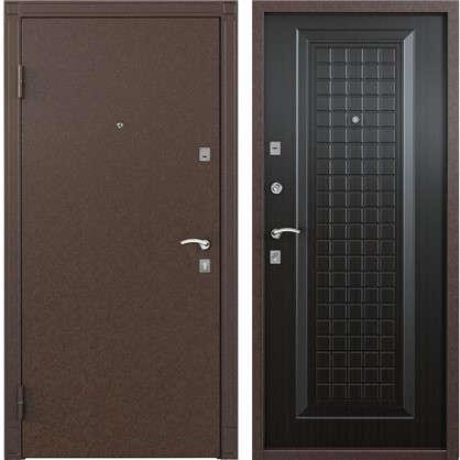 Дверь входная металлическая Спектра 1 950 мм левая цвет тёмный венге