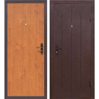 Дверь входная металлическая Стройгост 5-1 880 мм правая цвет золотистый дуб
