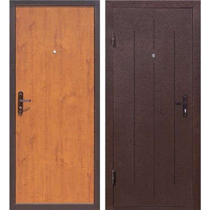 Дверь входная металлическая Стройгост 5-1 980 мм левая цвет золотистый дуб