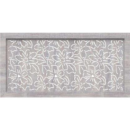 Экран для радиатора Цветы 120х60 см цвет дуб серый