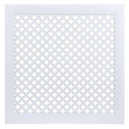 Экран для радиатора Готико 60х60 см цвет белый